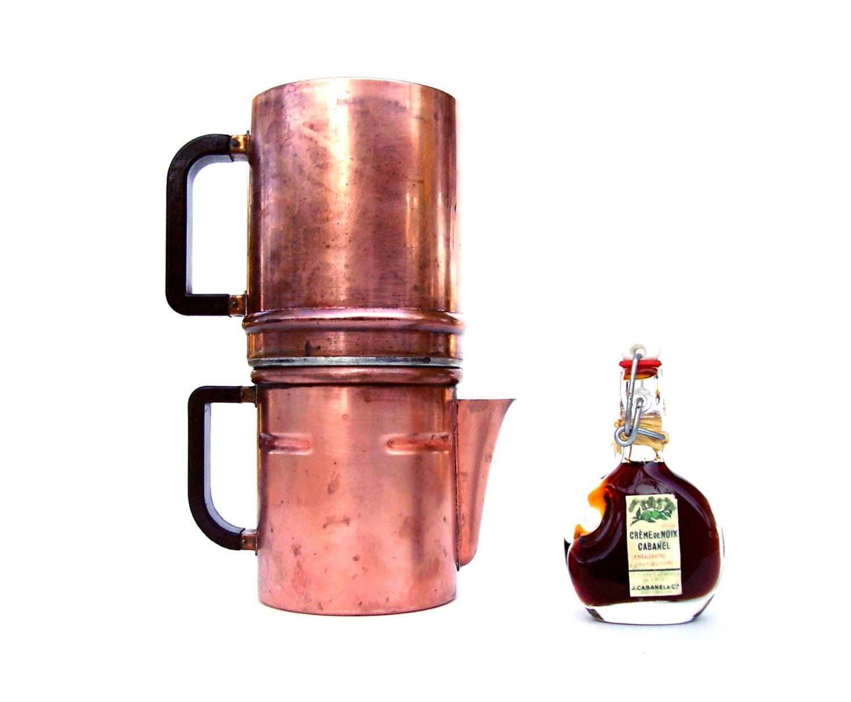 Neapolitan Flip Coffee Pot ~ Antique neapolitan flip pot coffee brewer copper italy s