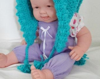 Oversize Elf Hood for Baby in Blue