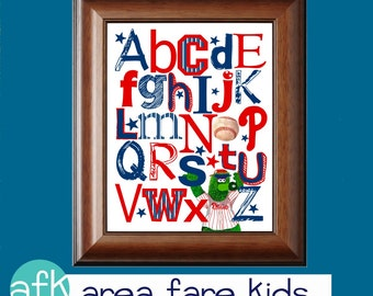 PHILADELPHIA Phillies baseball ABC Nursery Art Print
