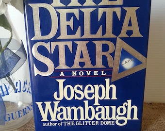 Classic Novel, Classic Literature, First Edition Book, Old Hardcover Book, Vintage Book, Bookshelf Decor, The Delta Star by Joseph Wambaugh