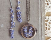 lavender shadowbox  necklace.