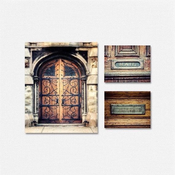 Foyer Door Frame : Rustic door decor set foyer print or