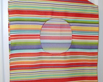 Most cheerful striped hanging hamper