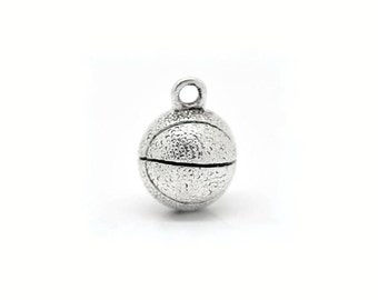 2 Basketball Charms in Silver Tone - C1952