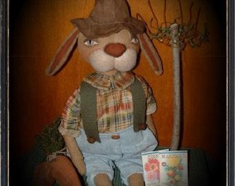 Primitive Rabbit Easter Bunnie Doll