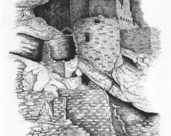 Mesa Verde - 11 x 14 Matted Print