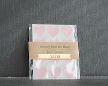 108 Mini Pastel Pink Heart Seals / Stickers