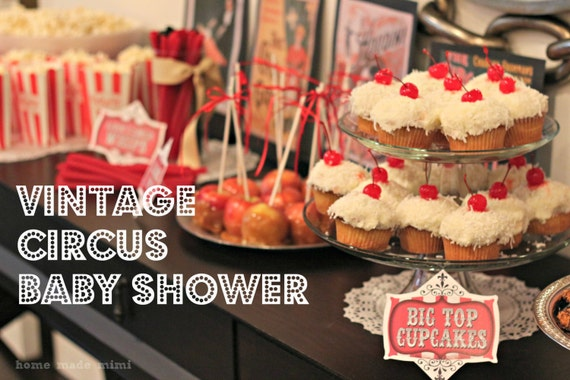 Vintage Circus Party - Printable Decorations Set