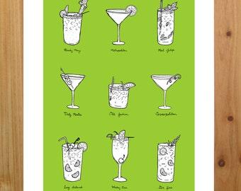 Classic Cocktail print