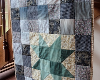 Modern Star Quilted Wall Hanging