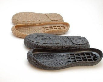 Black Rubber toe soles for your own projects - Supply for shoes, snow boots