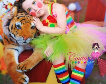 Deluxe clown tutu dress or costume