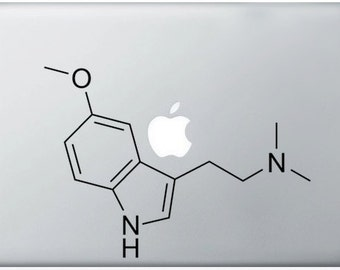 DMT Compound Molecule laptop DECALS- macbook iPad computer- chemical structure - vinyl sticker
