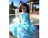 Pageant OOC Mermaid Fantasy Glitz Birthday under the sea Little Marmaid Casual wear talent wear Personality custom 12m up to 10 yrs