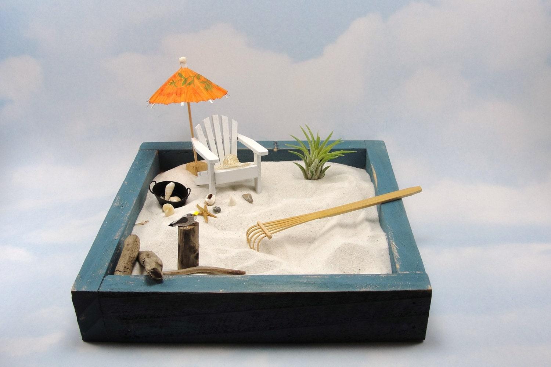 Miniature Zen Beach Garden Kit Miniature Adirondack Chair