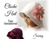 """Eden Ava Couture Cloche Hat Sewing Pattern for 18"""" American Girl Doll"""