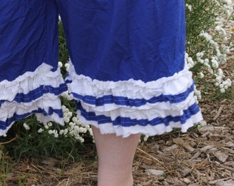 Nautical Lady's Ruffled Bloomers from sunwashed prairie