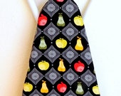 RESERVED LISTING - Ironing Board Cover - Apples and pears in red, lime green, yellow and black