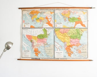 Vintage Pull Down Map, The Ottoman Empire