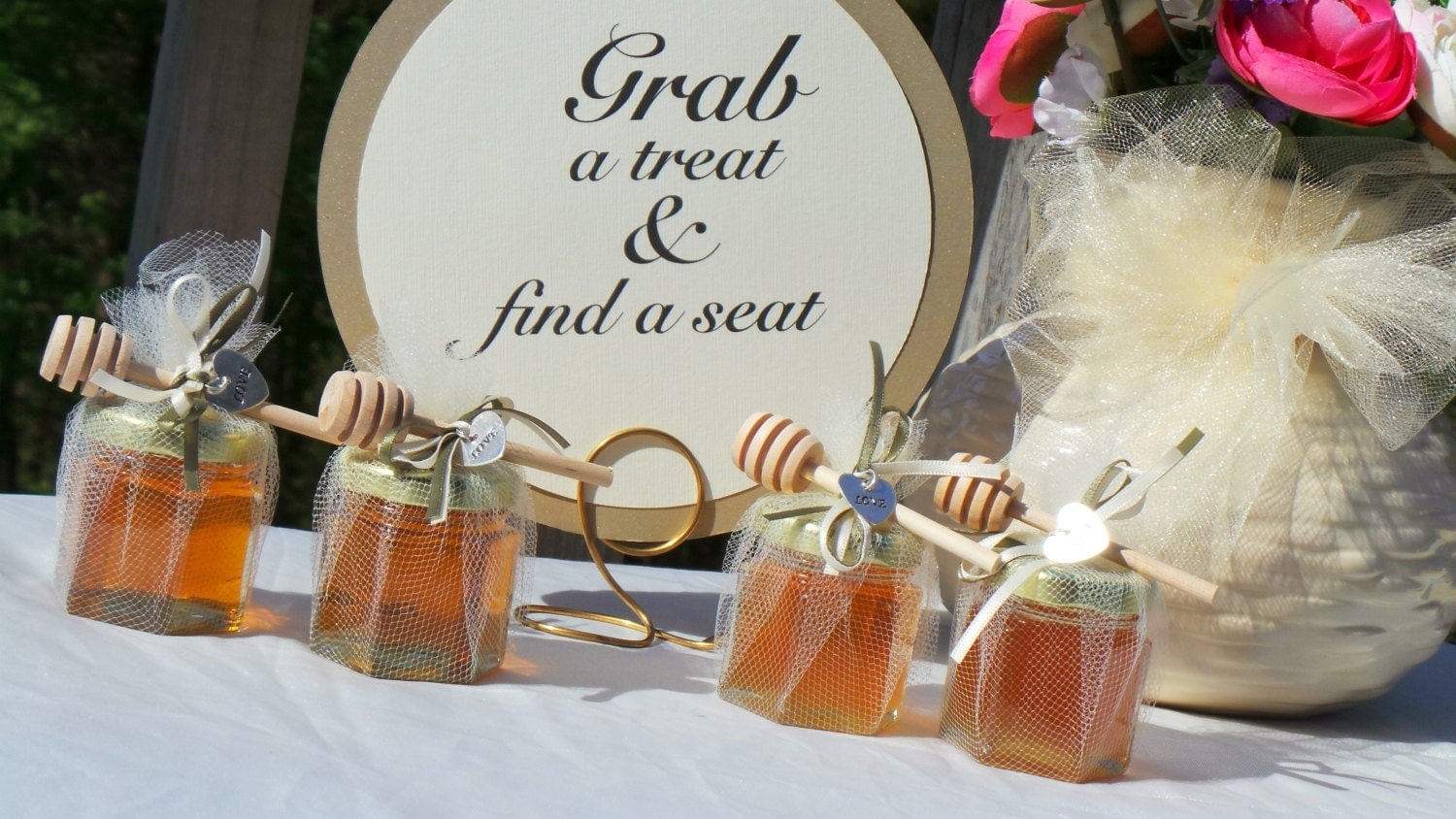 Bridal shower party honey favors wedding 10 favors for Wedding party accessories