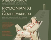 """Doctor Who - Peter Davison as the Fifth Doctor - 17 x 11"""" Cricket Match Poster Digital Print"""