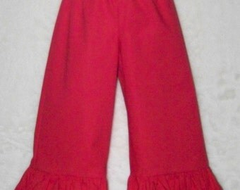 Boutique Ruffle Pants / SHORTS / Red / Minnie Mouse / Disney Vacation/ Birthday / Newborn / Baby / Girl / Toddler / Custom Boutique Clothing