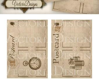 Sherlock Holmes Postcards 5 x 3.5 inch printable detective digital download instant download digital collage sheet VD0574