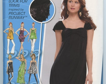 Simplicity 0589 Misses Junior Knit Long or Mini Dress and Tunic Sewing Pattern Size 3/4 - 9/10 UNCUT