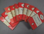Set of 10 Vintage Penguin Paperback Books: Mainly orange fiction but other colours may be included