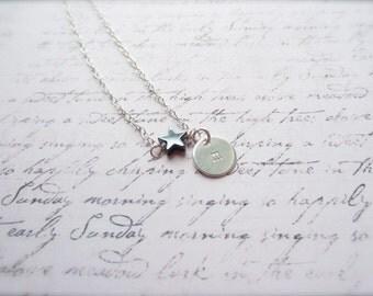 Black Star Necklace, Hematite Necklace, Hematite Jewelry, Bridal Party Gift, Swedish Jewelry, Made n Sweden, Black necklace, Black Jewelry