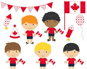 canada day clipart canadian clip art digital - Oh Canada Boys Digital Clip Art