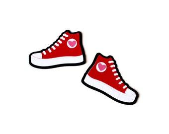 Tennis shoe die cuts - 1 pair (3 in.) - you choose the colors (C27)