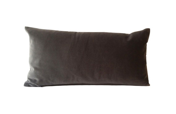Decorative Lumbar Pillow Cover -10x20 To 12x24 Medium Weight Cotton Velvet - Invisible Zipper Closure- - Knife Or Piping Edge