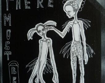 Illustration ,drawing,figures,white,black