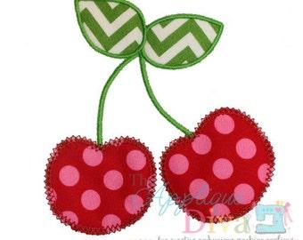 Summer Cherries 2  Digital Embroidery Design Machine Applique