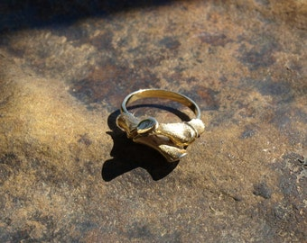 Vintage Bamboo Ring Sarah Coventry Adjustable