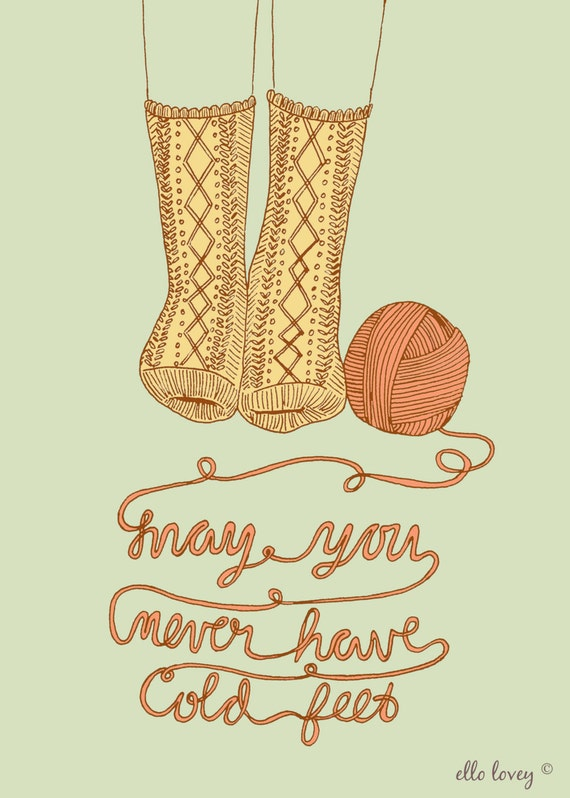 Never Have Cold Feet - 5x7 Art Print