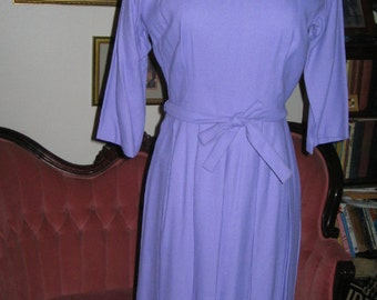VINTAGE LILAC PURPLE Dress Retro 1950's Day Dress