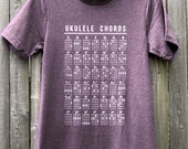 Ukulele Chords // Unisex Tee Shirt