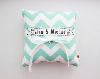 Chevron Wedding Ring Cushion