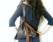 Distressed leather bag - Soft Leather Bag - Brown Tote Bag - Ever Day Bag - Leather Purse - brown leather bag