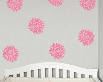 Peonies Wall Decal Flowers Set Decals Flower Blooms Vinyl Decals Bedroom Wall Art Stickers Poppy Decals Bedroom Bathroom Home Decor