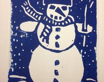 Christmas Card Snowman