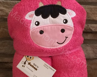 Cow Kids Hooded Towels