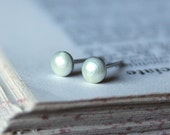 White Pearl Tiny Studs, Several Sizes Between 1.5mm and 10mm Agar.io Inspired Earrings