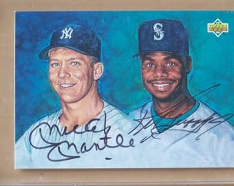 1994 Upper Deck Mickey Mantle/Ken Griffey Jr. Dual Autograph Baseball Card