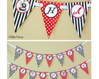 Pirate Birthday Banner, Instant Download, Printable, Digital