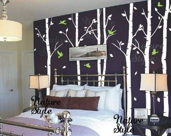 Birch Wall Decal Etsy - Vinyl wall decals birch tree