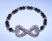 Rhinestone Infinity Heart Bracelet Love Forever