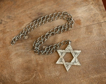 Star Of David Pendant Necklace Chain